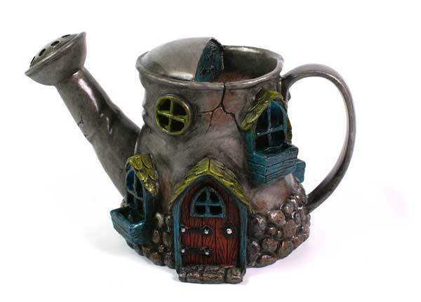 Fiddlehead Fairy Village: Watering Can House