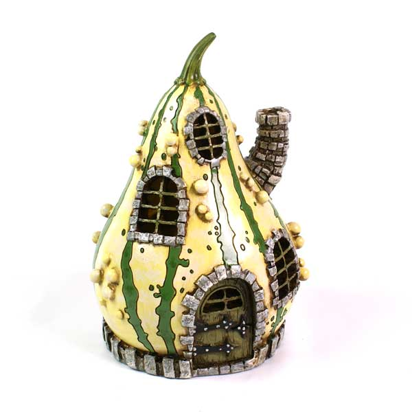 Fiddlehead Village Striped Gourd Fairy House