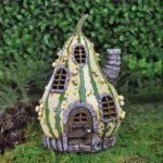 Wholesale Fairy Gardens UK- Fiddlehead Striped Gourd House